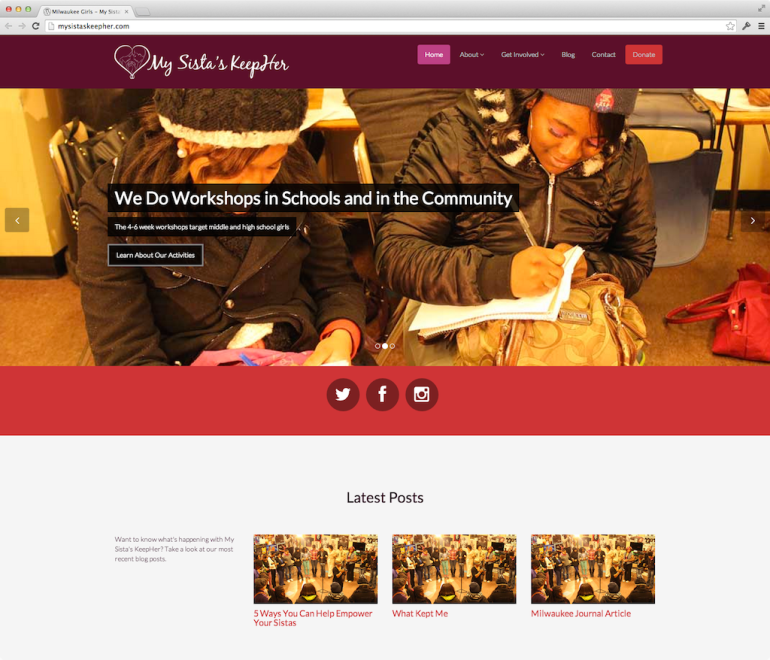 My Sista's KeepHer website