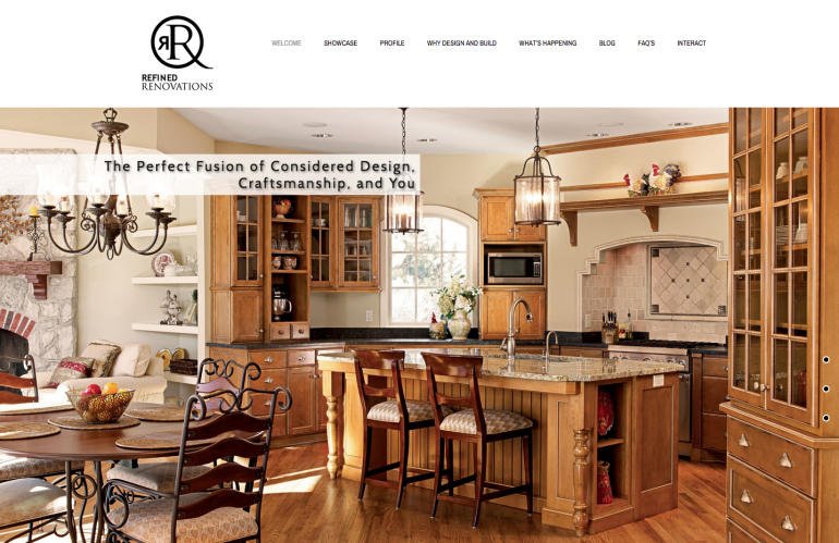 Refined Renovations Website Home Page